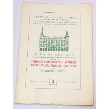 Constantes y renovación en el movimiento obrero socialista madrileño (1908-1920).