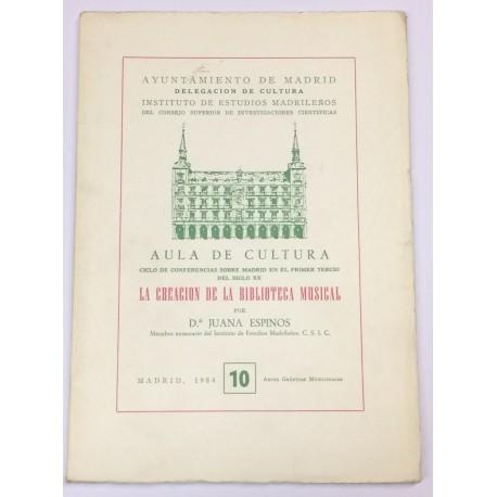 La creación de la Biblioteca Musical.