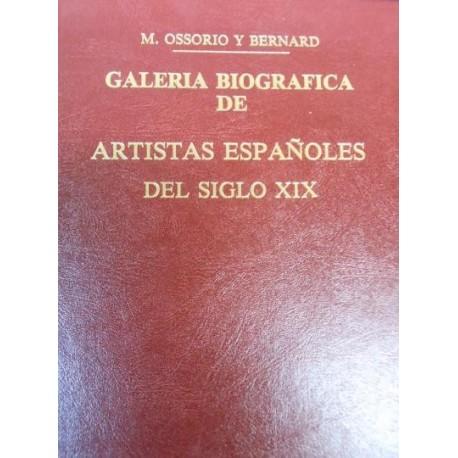 Galería biográfica de artistas españoles del siglo XIX.