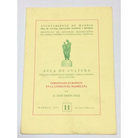 Personajes Europeos en la literatura madrileña.