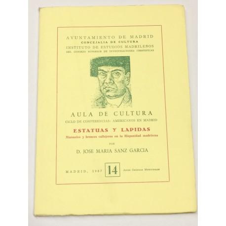Estatuas y lápidas. Márboles y bronces callejeros en la Hispanidad madrileña.