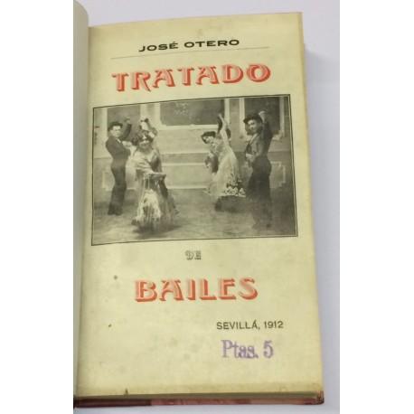 Tratado de Bailes de sociedad, regionales españoles, especialmente andaluces, con su historia y modo de ejecutarlos.