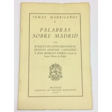 Palabras sobre Madrid.