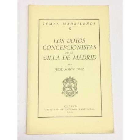 Los votos concepcionistas de la Villa de Madrid.