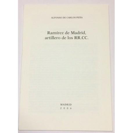 Ramírez de Madrid, artillero de los RR. CC.