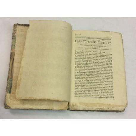 GAZETAS DE MADRID AÑO DE 1795 PRIMER SEMESTRE 52 números - [GACETA DE MADRID].