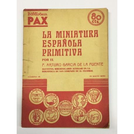 La miniatura española primitiva.