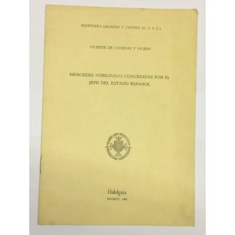 Mercedes nobiliarias concedidas por el Jefe del Estado Español.