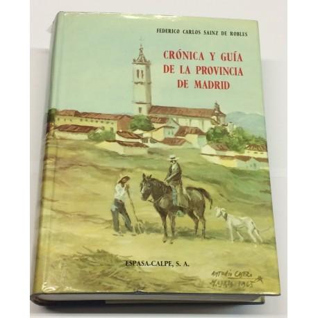 Crónica y guía de la provincia de Madrid (sin Madrid).