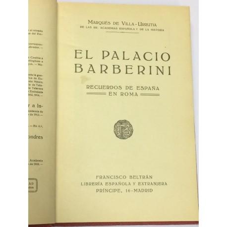 El Palacio Barberini. Recuerdos de España en Roma.