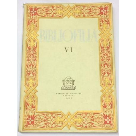 Revista BIBLIOFILIA. Tomo VI.