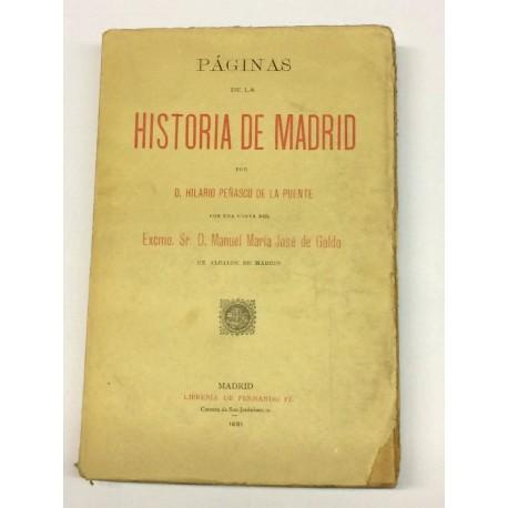 Páginas de la Historia de Madrid.