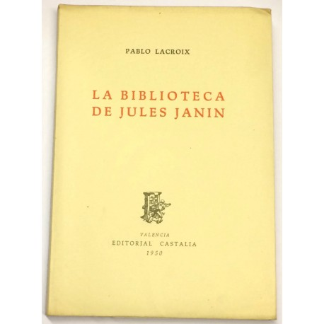 La biblioteca de Jules Janin.