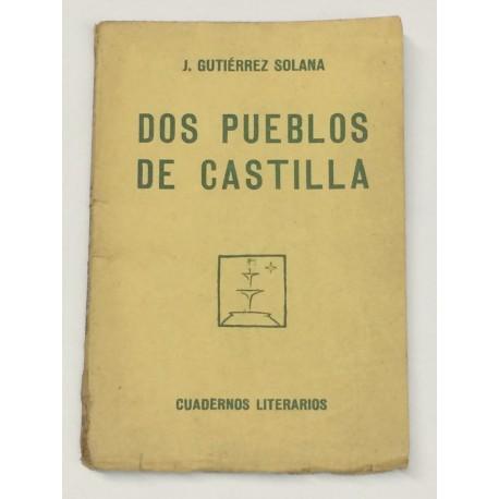 Dos pueblos de Castilla.