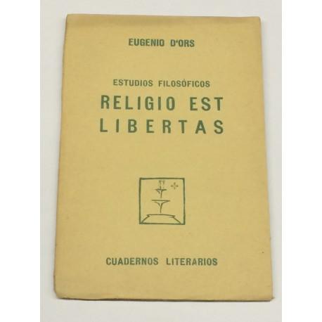 Estudios filosóficos. Religio est libertas.