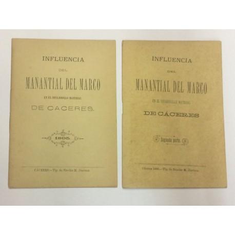 Influencia del Manantial del Marco en el desarrollo material de Cáceres.