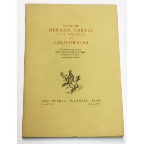 Viage de Hernán Cortés de a la Península de Californias.