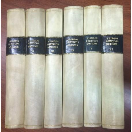 PLIEGOS POÉTICOS GÓTICOS de la Biblioteca Nacional. Colección Joyas Bibliográficas, serie conmemorativa.