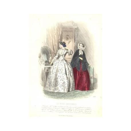 Litografía de moda perteneciente a la obra LES MODES PARISIENNES. Nº 454.