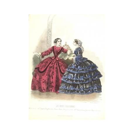Litografía de moda perteneciente a la obra LES MODES PARISIENNES. Nº 636.