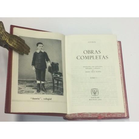 Obras Completas. Tomo I. Introducción, notas preliminares, bibliografía y ordenación por Ángel Cruz Rueda.
