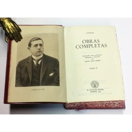 Obras Completas. Tomo IV. Introducción, notas preliminares, bibliografía y ordenación por Ángel Cruz Rueda.