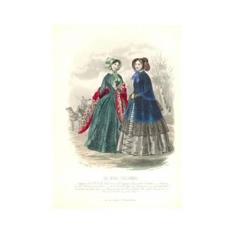 Litografía de moda perteneciente a la obra LES MODES PARISIENNES. Nº 199.