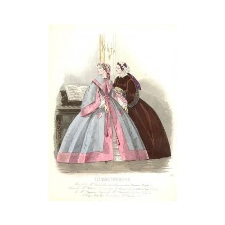 Litografía de moda perteneciente a la obra LES MODES PARISIENNES. Nº 924.