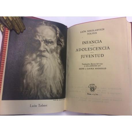 Infancia, Adolescencia y Juventud. Traducción directa del ruso y nota preliminar por Irene y Laura Andresco.