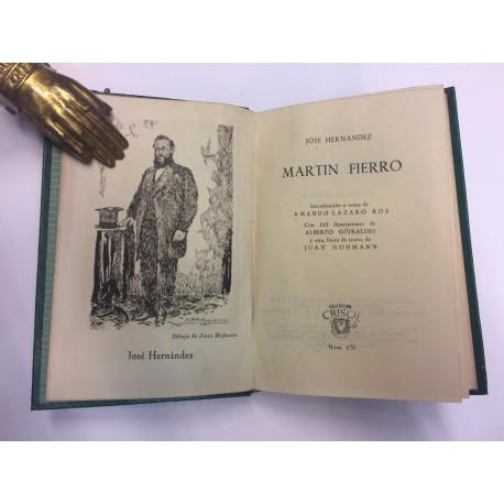 Martín Fierro. Poema argentino. Introducción, revisión y notas de Amando Lázaro Ros.