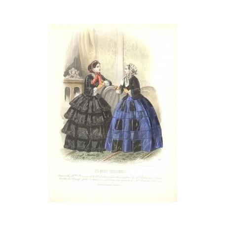 Litografía de moda perteneciente a la obra LES MODES PARISIENNES. Nº 561.
