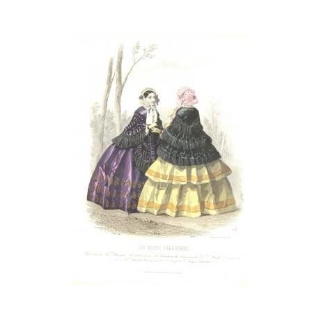 Litografía de moda perteneciente a la obra LES MODES PARISIENNES. Nº 633.