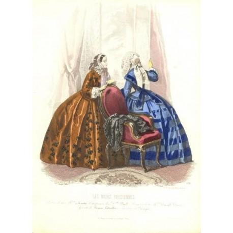 Litografía de moda perteneciente a la obra LES MODES PARISIENNES. Nº 631.