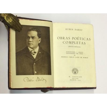 Obras Poéticas Completas. Introducción y ensayo de una bibliografía del poeta por Federico Carlos Sáinz de Robles.