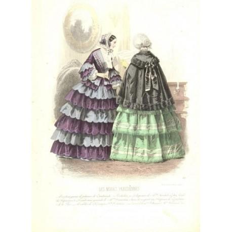 Litografía de moda perteneciente a la obra LES MODES PARISIENNES. Nº 530.
