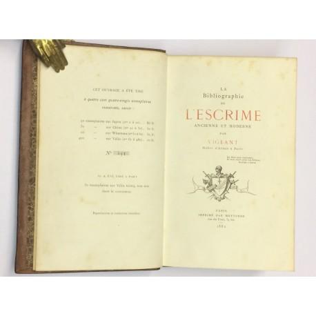La Bibliographie de l'Escrime ancienne et moderne. [Esgrima].