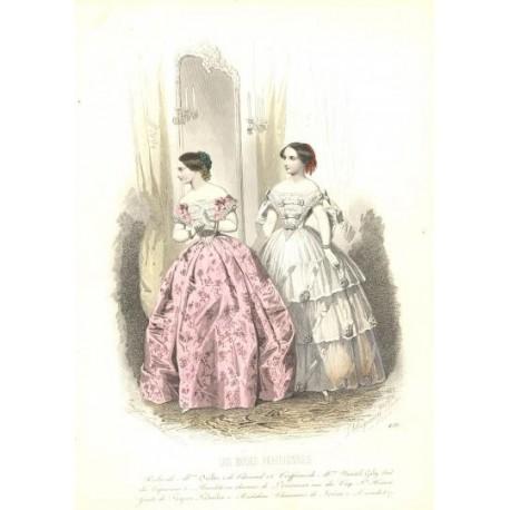 Litografía de moda perteneciente a la obra LES MODES PARISIENNES. Nº 456.