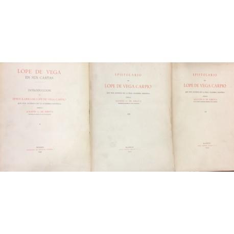 Lope de Vega en sus cartas. Introducción al epistolario que por acuerdo de la Academia publica Agustín G. de Amezúa.