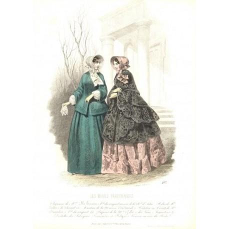 Litografía de moda perteneciente a la obra LES MODES PARISIENNES. Nº 402.