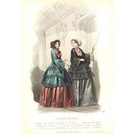 Litografía de moda perteneciente a la obra LES MODES PARISIENNES. Nº 398.