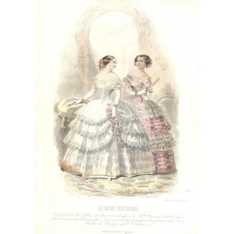 Litografía de moda perteneciente a la obra LES MODES PARISIENNES. Nº 575.