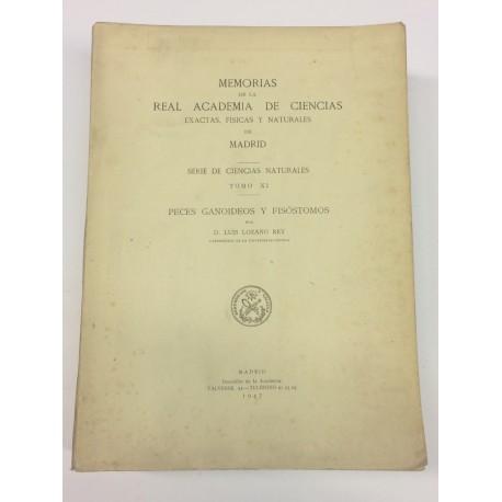 Memorias de la Real Academia de Ciencias. Serie de Ciencias Naturales. Tomo XI: Peces ganoideos y fisóstomos.