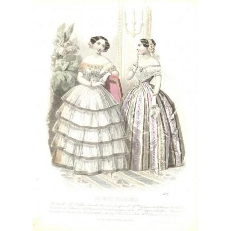 Litografía de moda perteneciente a la obra LES MODES PARISIENNES. Nº 472.