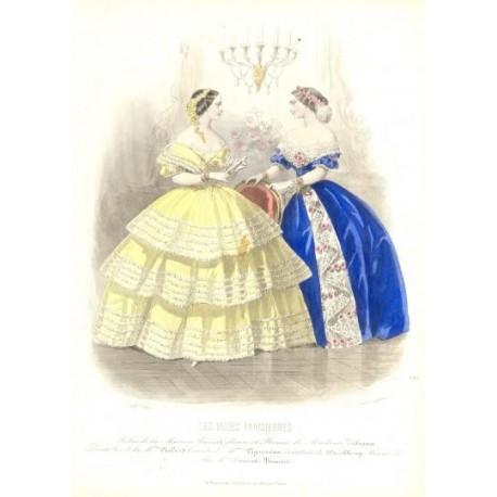 Litografía de moda perteneciente a la obra LES MODES PARISIENNES. Nº 676.