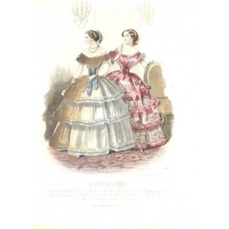 Litografía de moda perteneciente a la obra LES MODES PARISIENNES. Nº 568.