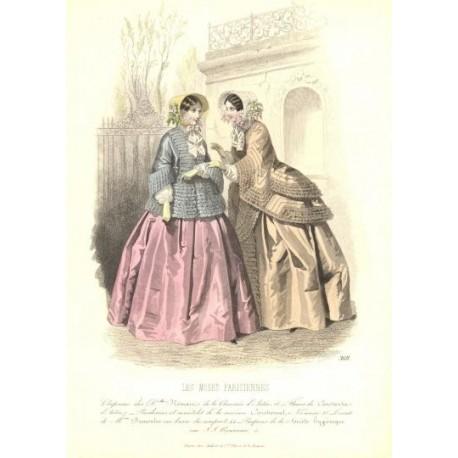 Litografía de moda perteneciente a la obra LES MODES PARISIENNES. Nº 368.