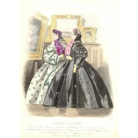 Litografía de moda perteneciente a la obra LES MODES PARISIENNES. Nº 930.