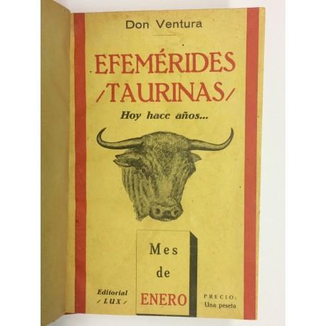 Efemérides taurinas. Hoy hace años... Mes de Enero.