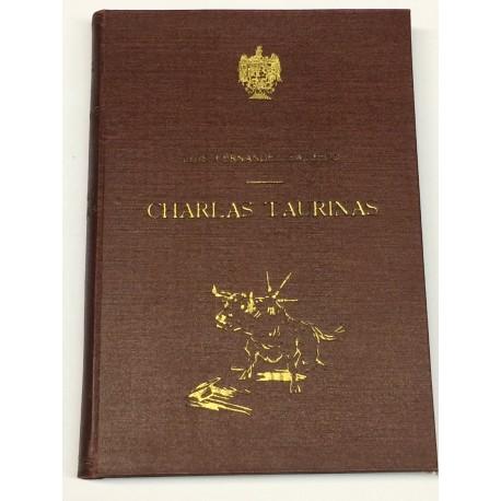 Charlas Taurinas. (Selección de artículos publicados en varias revistas). Prólogo de Antonino Montero.