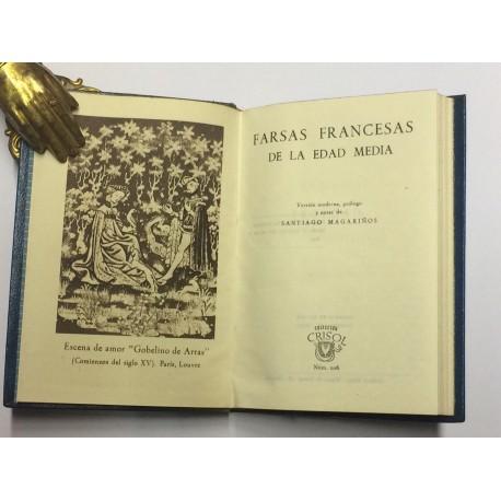 Farsas Francesas de la Edad Media. Versión moderna, prólogo y notas de Santiago Magariños.